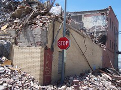 Stop (Demolition of the U.S. Beef building, 4th and Morse Streets NE)