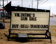 Valentine's Day Gun Sale photo by Sarah&Boston