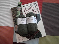 Grass sock yarn