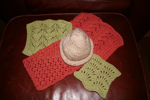 Pinwheel of knitting