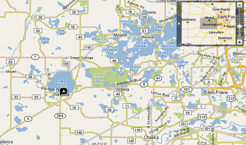 Waconia Minnesota Map