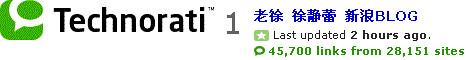 xujinglei's blog in Technorati