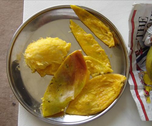 Eaten-up mango