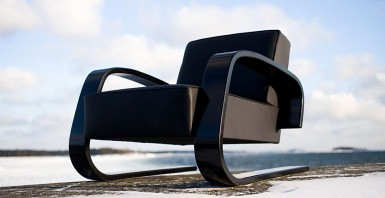 Glossy Black Aalto against the sky LOW RES