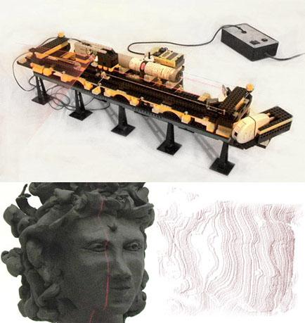 Escáner 3D hecho de LEGO