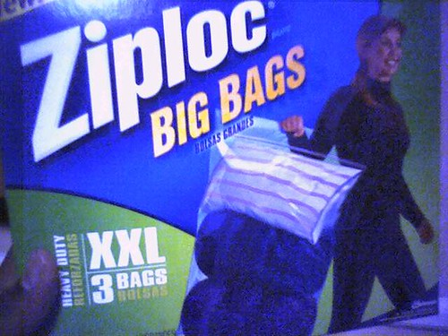 ziploc BODY bags!