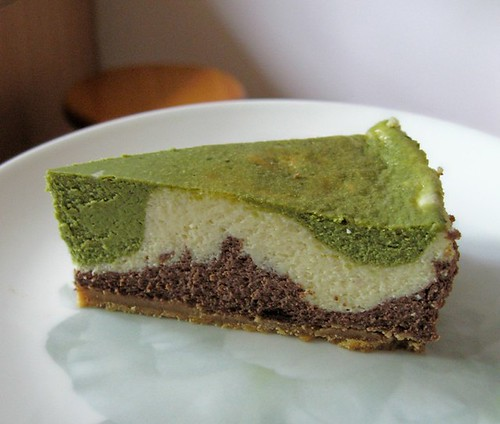 Green tea n chocolate cheesecake