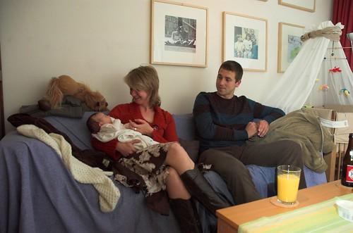Johan en Nele op bezoek