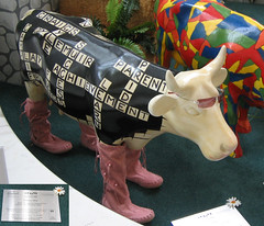 No 89 Checky Moo at Edinburgh Cow Parade 2006
