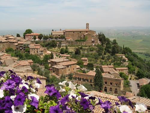 Montalcino restaurant view