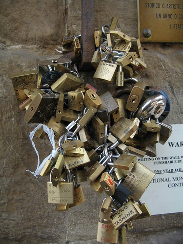 Padlocks on the Ponte Vecchio
