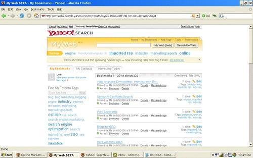 Yahoo MyWeb