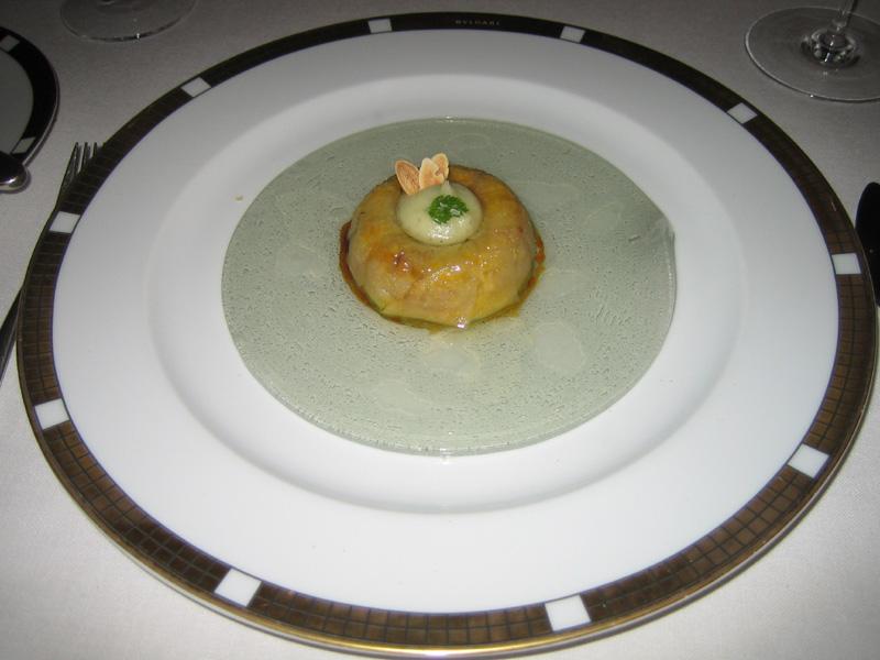 Can Roca - Appled-wrapped Foie Gras w/ Vanilla Oil & Apple/Vanilla sauce