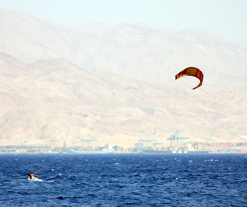 kytesurfer on the red sea