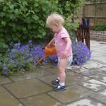 Watering Julie's garden<br/>13 Jun 2006