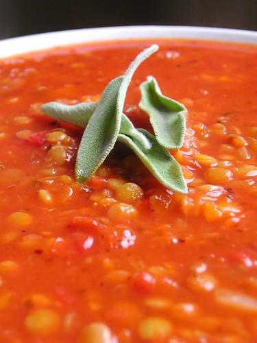 Smoky Sage Lentil Soup