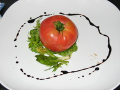 Momotaro tomato stuffed with aubergine caviar