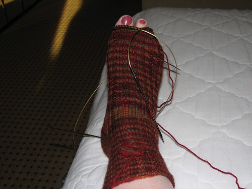 almost done first sock