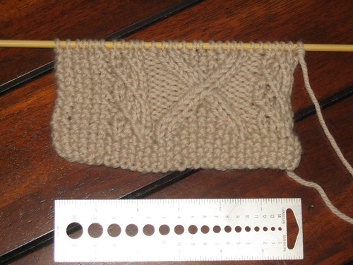 Wool Trellis swatch