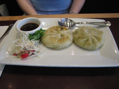 Vegi dumpling, sugar and spice
