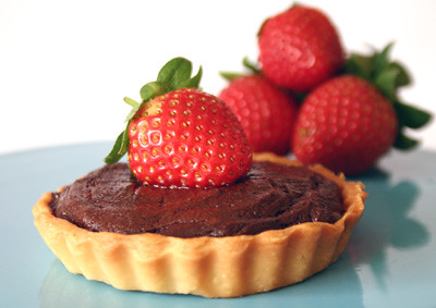 Chocolate and Strawberry Tarts