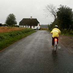 cyclists biking on Fyn, Denmark