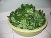 A bowl of collard greens