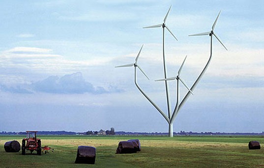 Dutch tree windmills inhabitat sustainable design Wind architecture
