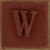 Stamp letter W