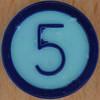 Colour Bingo blue number 5