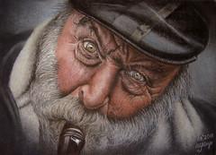 Face of a Street Musician photo by irishishka