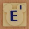 Disney Scrabble Letter E
