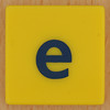 Junior Scrabble letter e