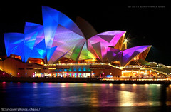 Lighting The Sails, Vivid Sydney 2011 photo by Christopher Chan