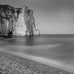 Etretat, long exposure cliffs photo by Dutch Dennis