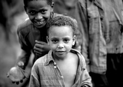 Benje tribe kids - Ethiopia photo by Eric Lafforgue