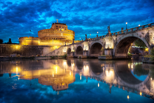 "Ponte Sant""Angelo - (Rome, Italy) photo by blame_the_monkey"