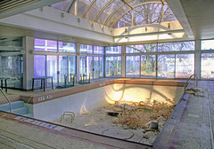 indoor pool at the purple hotel photo by Jonathon Much
