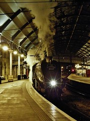 A4 60007 'Sir Nigel Gresley' At Newcastle Central Station  - (5Z26)  'The Tynesider' Light Engine Move To NYMR - 18th December 2010 photo by allan5819 (Allan McKever)