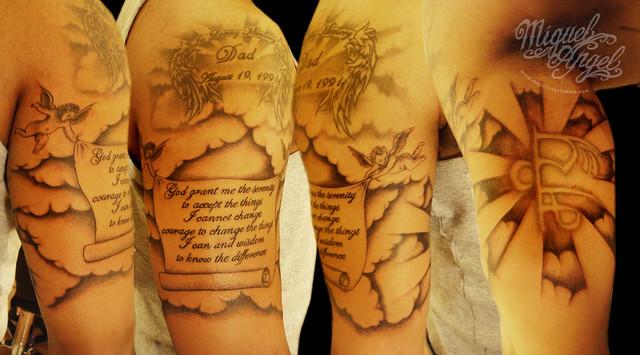 cherubs tattoos. Religious design tattoo, with