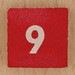 Square Wooden Bingo Number 9