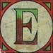 Vintage Brick Letter E
