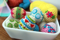 Needle Felting on Crochet Eggs photo by Easymakesmehappy