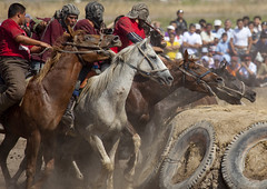 Horse Game For National Day, Bishkek, Kyrgyzstan photo by Eric Lafforgue