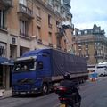 Premier camion et monte-meubles