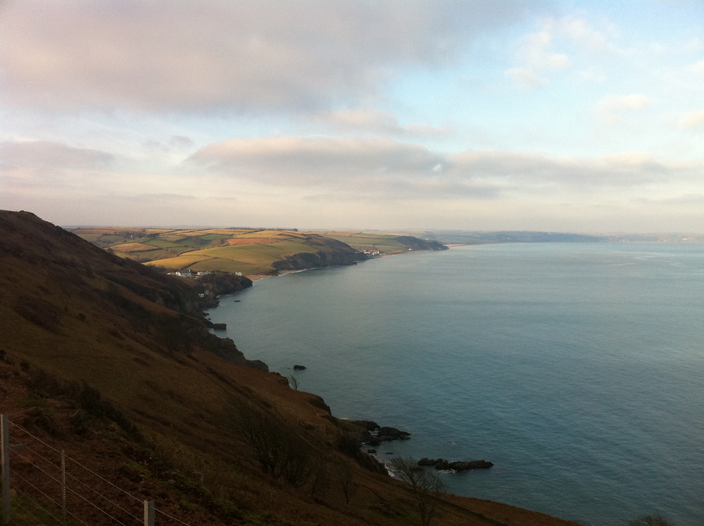 South Devon coast, looking east from Start Point