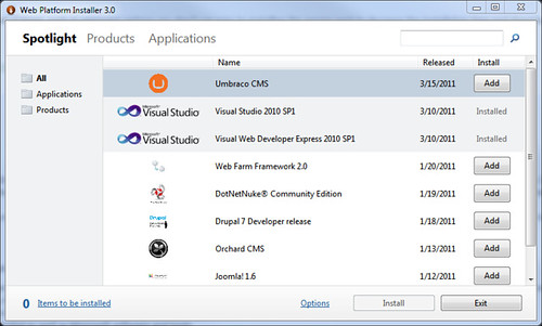 Jon Galloway - Web Platform Installer bundles for Visual Studio 2010