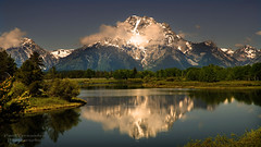 Mt. Moran Reflected on the Snake River at Grand Teton National Park photo by D200-PAUL