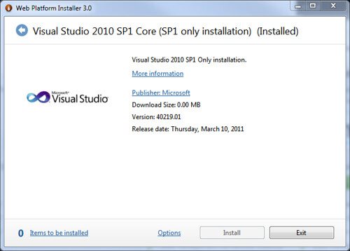 Jon Galloway - Web Platform Installer bundles for Visual Studio 2010