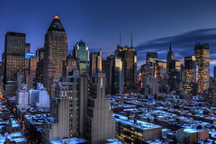 Blue Hour at Midtown Manhattan - A Crystal Wonderland - Reprocessed with Photomatix photo by 1982Chris911 (Thank you 3.000.000 Times)
